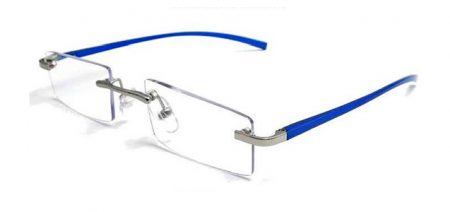 aluminum reading glasses blue
