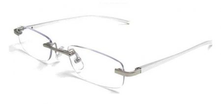 metal reading glasses silver
