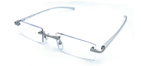 Aluminum Silver Lightweight Reading Glasses